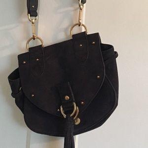 See by Chole Collins mini navy handbag
